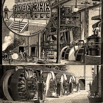 Bild von der Elektropolis Centrale Markgrafenstrasse auf der Website von Berlin Energie; Quelle: Bewag-Archiv/Vattenfall